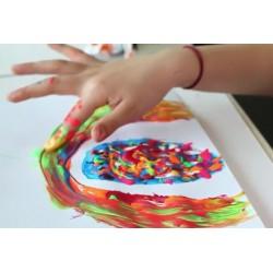 Zestaw do malowania palcami z szablonami