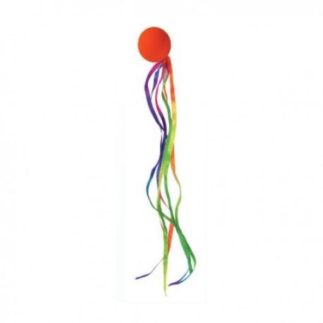 Piłka z kolorowym ogonkiem